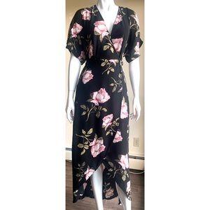 Dynamite Floral Wrap Dress XS